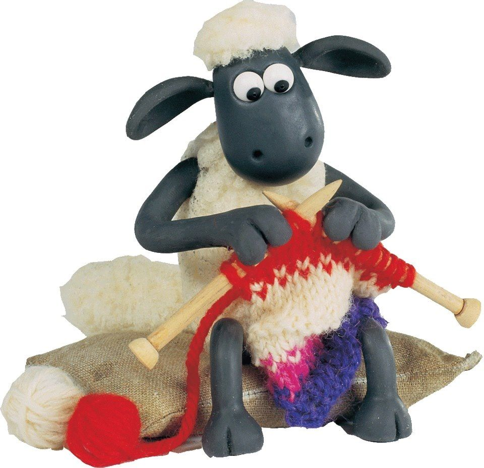 Shaun the Sheep knitting