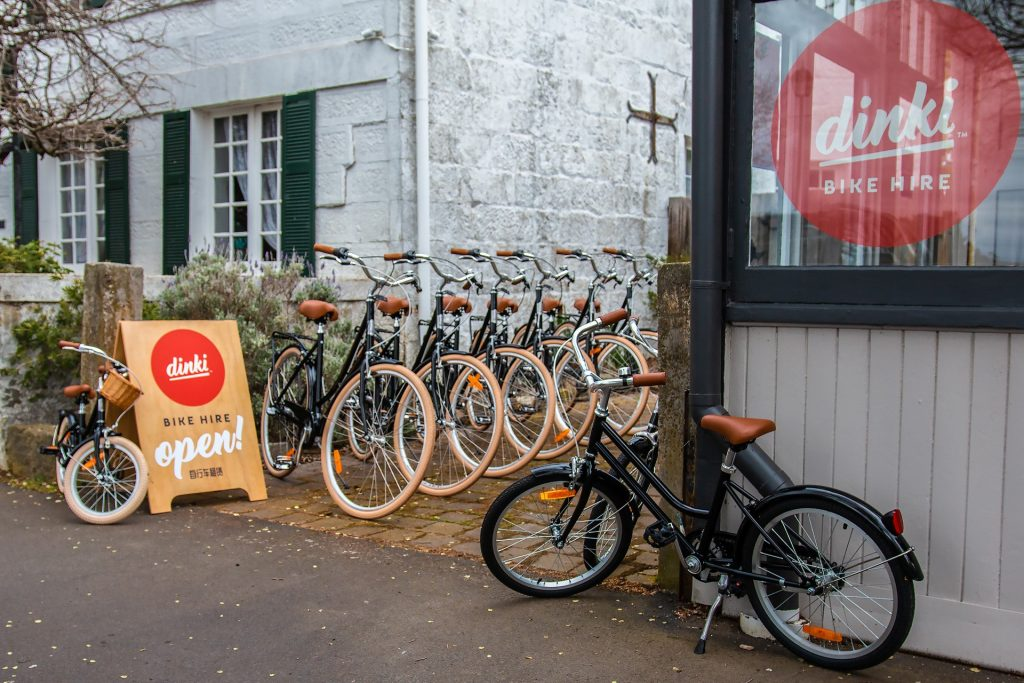 Dinki Bike Hire store front