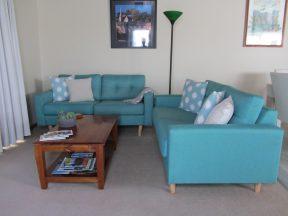 Lounge room at Elm Trees Accommodation at Ross