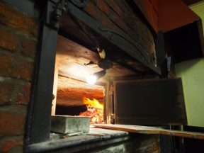 The 1860 wood fired oven at the Ross Village Bakery