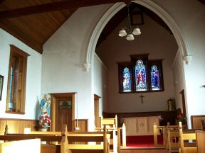 Interior view of the Catholic Church at Ross Tasmania. Image by G Keri