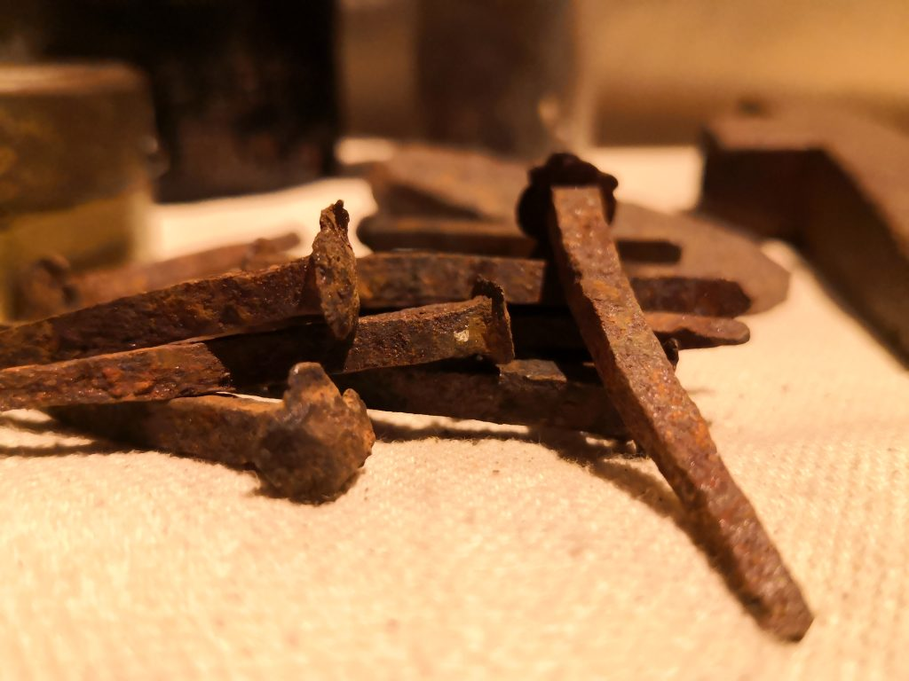 rusty nails from the colonial days
