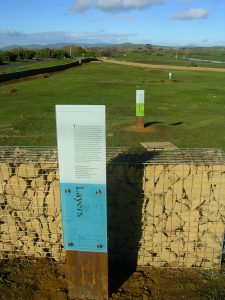 Interpretation panel at the site of the Female Factory at Ross