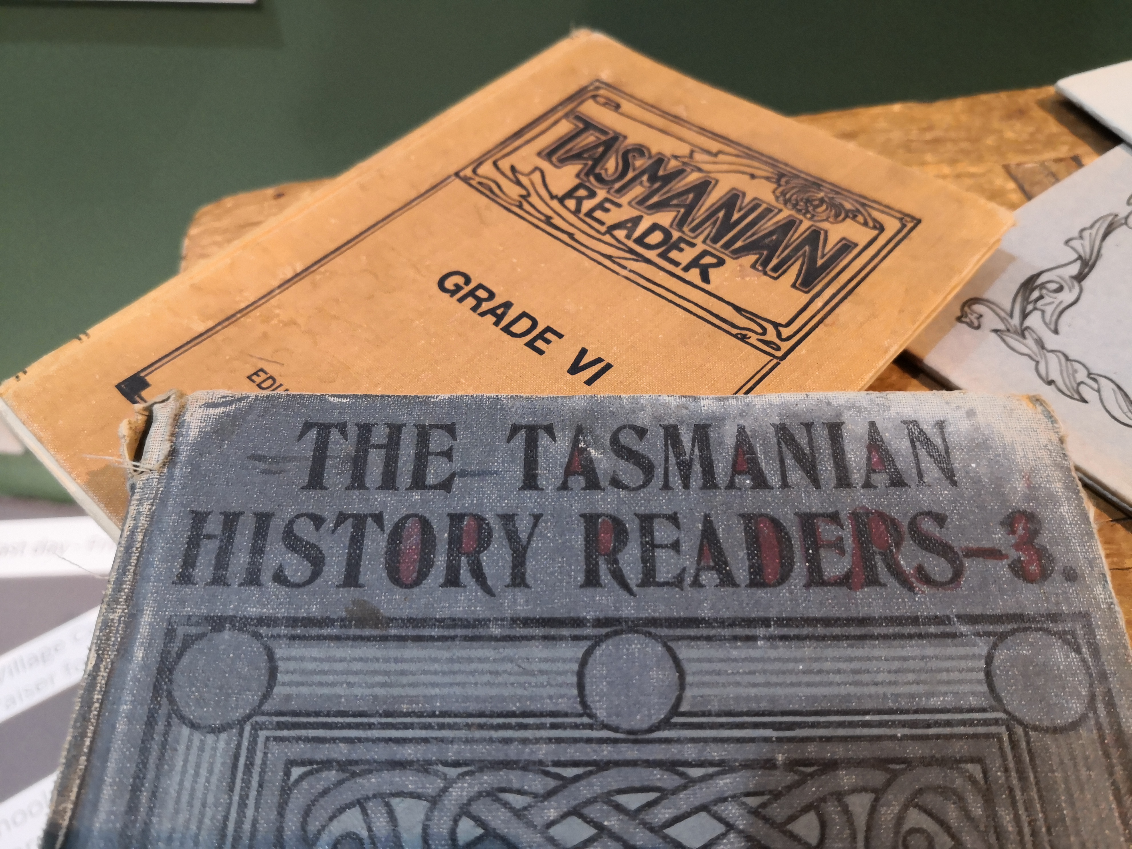 artifacts in the museum at the Tasmanian Wool Centre, Ross